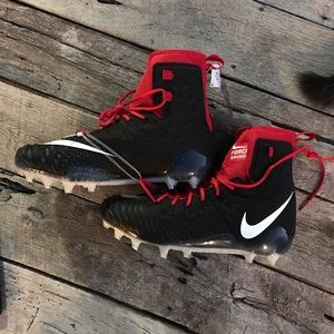 Nike Force Savage Black & Red Football Cleats 16